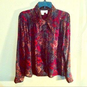3/$18 Justine Todd Vintage blouse